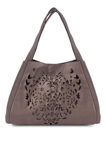心形雕花手提包, 包, 飾品zalora鞋子評價配件
