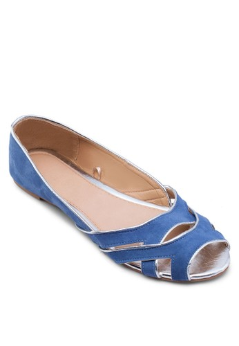 Milano 魚口zalora鞋子評價滾邊平底鞋, 女鞋, 鞋