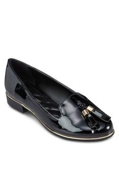 漆皮流蘇樂福鞋