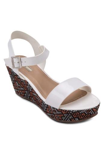印花zalora 台灣楔形涼鞋, 女鞋, 楔形涼鞋