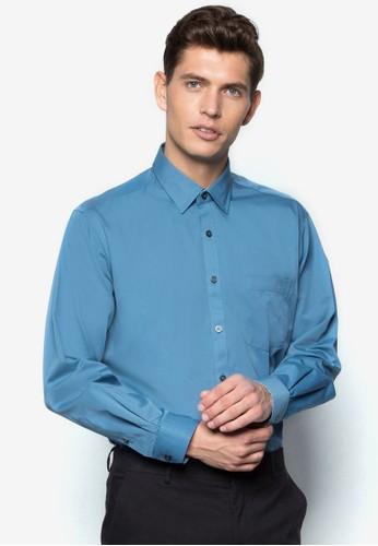 基本寬素色長袖襯衫, 服飾, 服zalora 心得飾