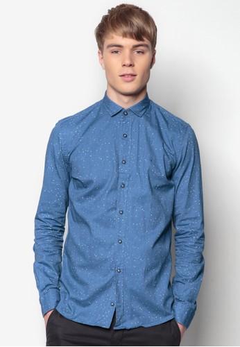 貼身長袖襯衫zalora 評價, 服飾, 印花襯衫