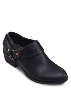 西部牛仔風粗跟踝靴