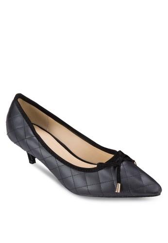 蝴蝶結菱格低根鞋, zalora開箱女鞋, 鞋