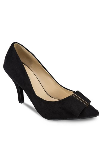 Jess 蝴蝶結高跟鞋, 女鞋zalora 評價, 鞋