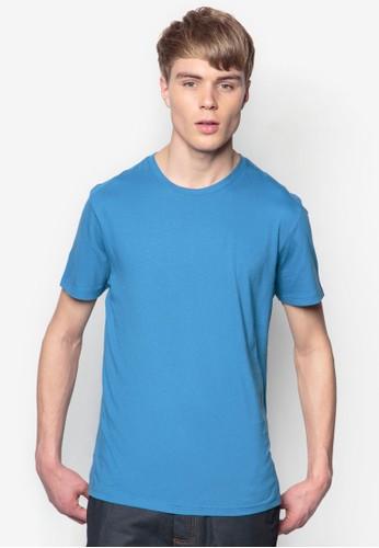 基本zalora 台灣款素色圓領TEE, 服飾, 素色T恤