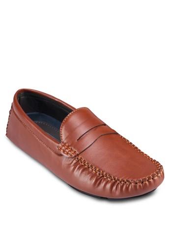 仿皮飾帶莫卡辛鞋, 鞋, zalora鞋船型鞋