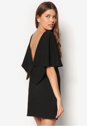 Premium 挖背層次蓋袖連身裙,zalora 台灣 服飾, 服飾