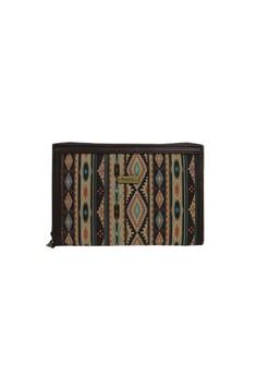 Hers Bags Clutch Brown Multifungsi Motif Batik - Cokelat