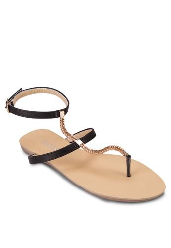Mavis 金飾繞踝夾zalora鞋腳涼鞋, 女鞋, 鞋