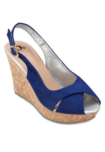 Strap Back Peep Toe Wedgeszalora 台灣, 女鞋, 魚口楔形鞋