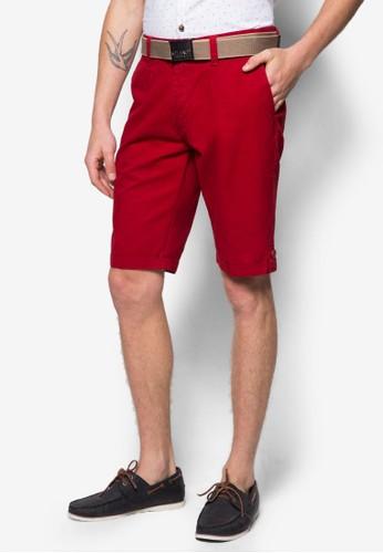 腰帶休閒短褲, 服飾, zalora鞋短褲