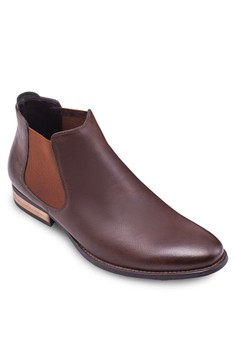 Chelsea 仿皮低跟踝靴