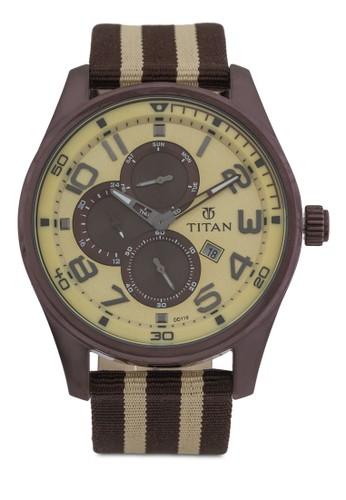 多功能條zalora開箱紋尼龍帶手錶, 錶類, 其它錶帶