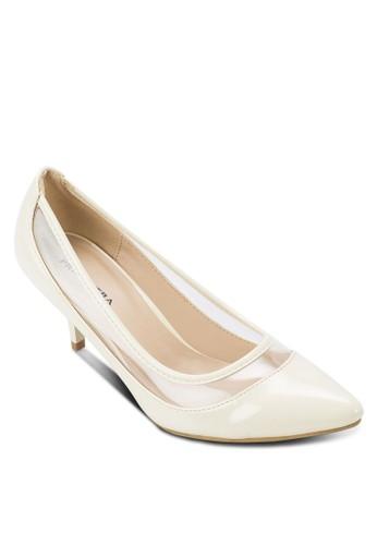 zalora退貨MADELYN 拼接尖頭高跟鞋, 女鞋, 鞋