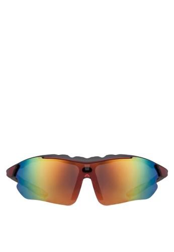 Marcus 運動太陽眼鏡zalora退貨, 飾品配件, 長框