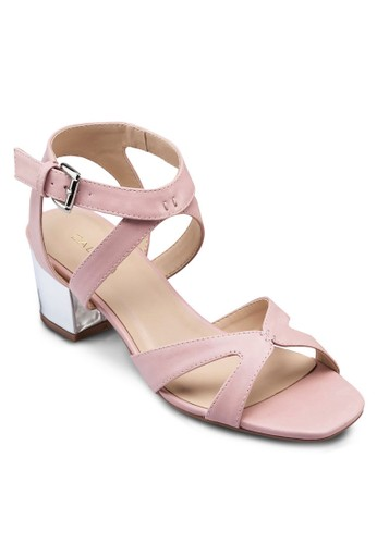金屬zalora鞋感中跟涼鞋, 女鞋, 鞋