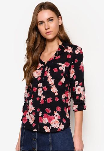 棉質花色襯衫, 服飾, zalora 心得服飾