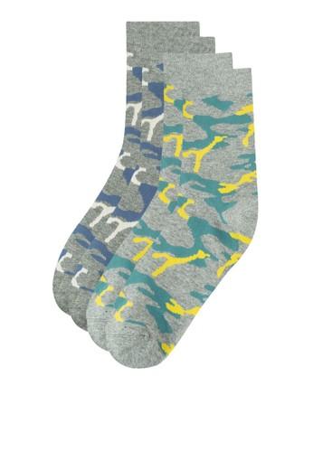 二入逗趣印花襪子zalora 台灣, 服飾, 服飾