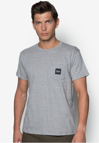 條紋口袋TEE, zalora 心得服飾, T恤