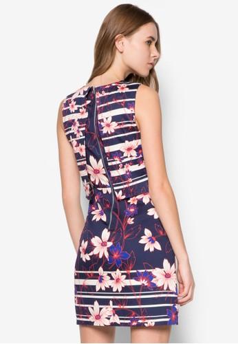 Int 花卉印花層zalora 台灣次洋裝, 服飾, 正式洋裝