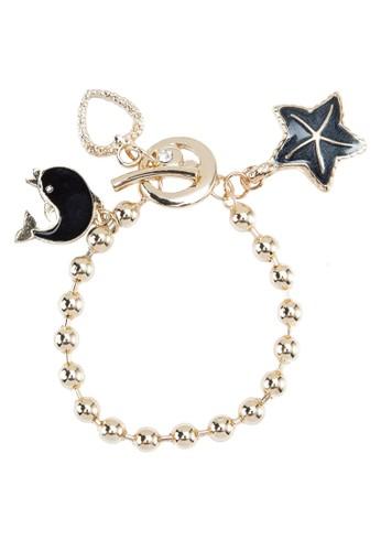 海洋風墜飾手鍊zalora退貨, 飾品配件, 手鐲 & 手環