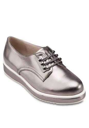 撞色厚底亮面運動鞋, 女鞋,zalora鞋 鞋