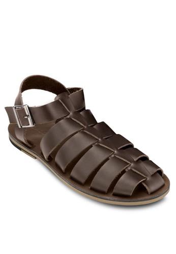 皮革多帶羅zalora 心得馬涼鞋, 鞋, 拖鞋