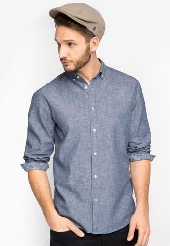 棉織長esprit網站袖襯衫, 服飾, 服飾