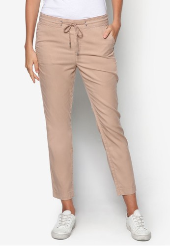 棉織esprit 門市繫帶休閒長褲, 服飾, 直腳褲