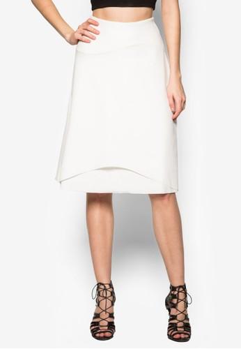 層疊及zalora 包包評價膝裙, 服飾, 及膝裙