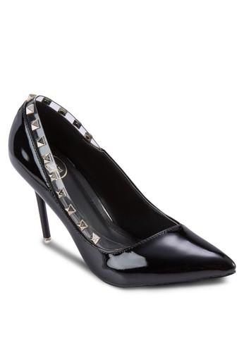 鉚釘尖頭高跟鞋, 女zalora時尚購物網評價鞋, 鞋