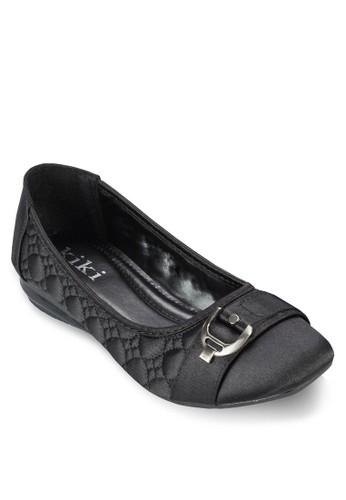 扣環zalora 手錶 評價縫線軟襯平底鞋, 女鞋, 芭蕾平底鞋