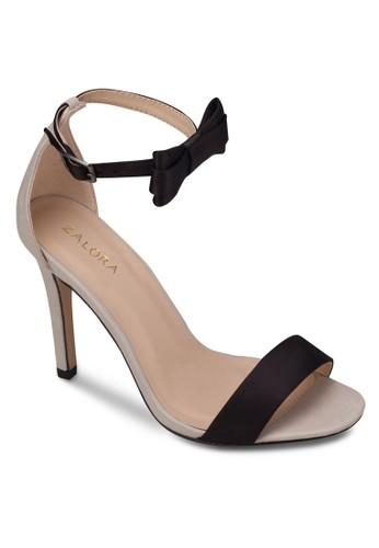 蝴蝶結踝zalora 順豐帶高跟涼鞋, 女鞋, 細帶高跟鞋