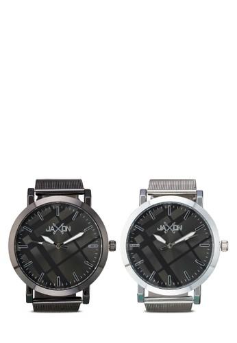 Brent 圓框情侶對裱, zalora 內衣錶類, 不銹鋼錶帶