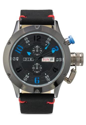 PU 錶帶行針手錶, 錶類, zalora是哪裡的牌子其它錶帶