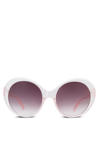 時尚圓框太陽zalora 台灣眼鏡, 飾品配件, 大框