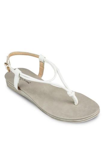 扭結踝zalora 心得帶涼鞋, 女鞋, 涼鞋