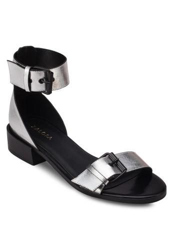 雙扣環繞踝zalora開箱平底涼鞋, 女鞋, 低跟