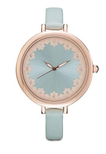 鐳射雕花界面圓框錶, 錶類, zalora 鞋評價其它錶帶