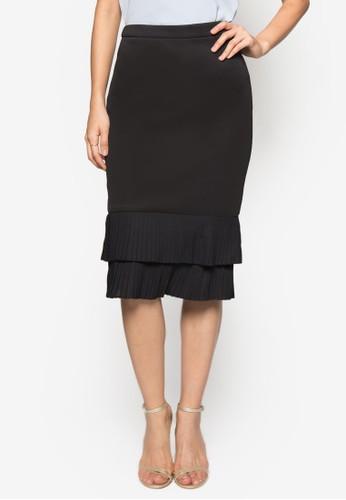 Collectionzalora 順豐 層疊下擺及膝裙, 服飾, 及膝裙