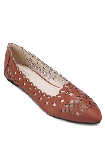 雕花鏤空平底鞋, 女鞋, 芭zalora是哪裡的牌子蕾平底鞋
