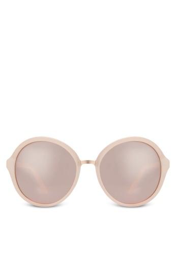Hilin 圓框太陽眼鏡, 飾品zalora 鞋評價配件, 飾品配件