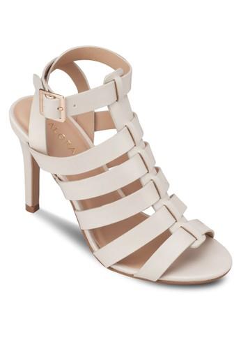 多帶造型繞踝高跟鞋, zalora鞋女鞋, 細帶高跟鞋