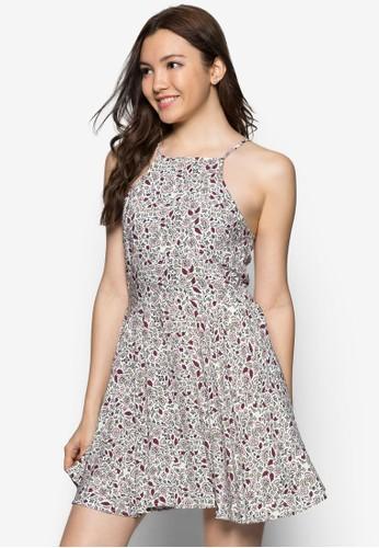 花卉印花挖背洋裝, 服zalora 評價飾, 夏日洋裝