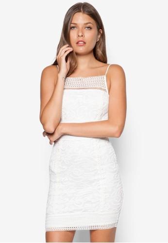 蕾絲鉤花修topshop uk身洋裝, 服飾, 洋裝