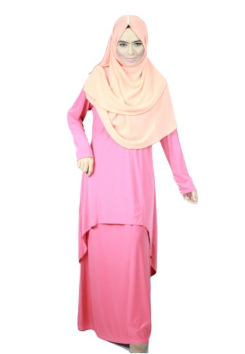 Aleyka Baju Kurung Dark Coral from anisse in Pink