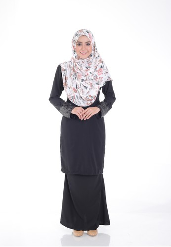 Arianna Modern Kurung from Saqma Boutique in Black
