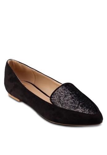 閃飾尖頭平底鞋zalora開箱, 女鞋, 鞋