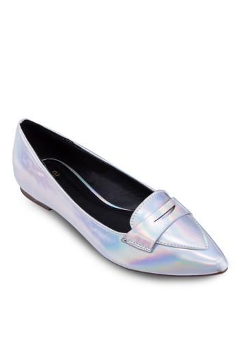 金屬感尖頭樂福鞋,zalora 心得 女鞋, 鞋